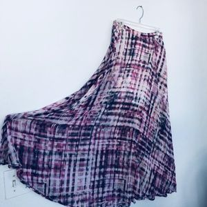 long skirt with a side split and knee length